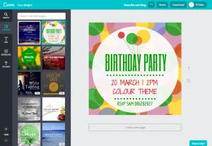 crear invitacion cumpleaños gratis con canva online